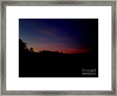 Sun Ray In Dark Framed Print by Rushan Ruzaick