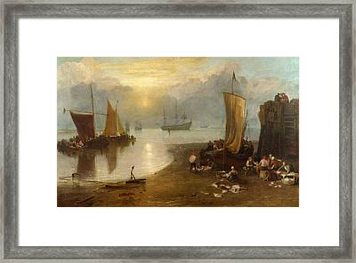 Sun Rising Through Vagour Framed Print