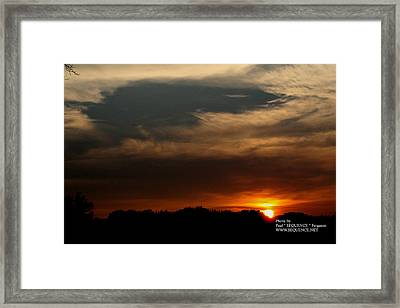 Sun Set Framed Print