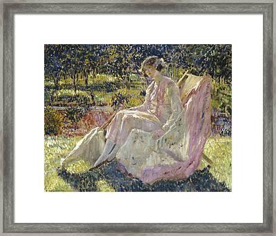 Sunbath Framed Print by Frederick Carl Frieseke
