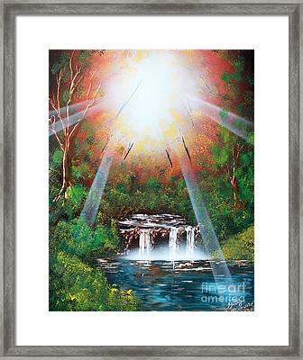 Sunbeam Falls Framed Print by Greg Moores
