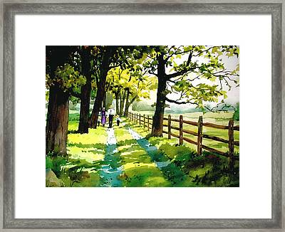 Sunday Afternoon Framed Print by Dale Ziegler