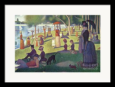 Pointillism Paintings Framed Prints