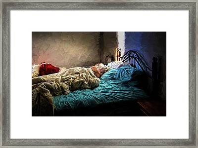 Framed Print featuring the painting Sunday Morning by Bob Orsillo