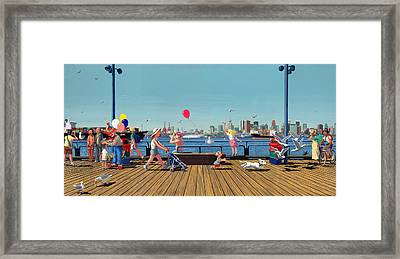 Sunday Morning Lonsdale Quay Framed Print by Neil Woodward