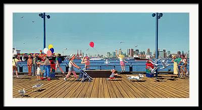 Burrard Inlet Paintings Framed Prints