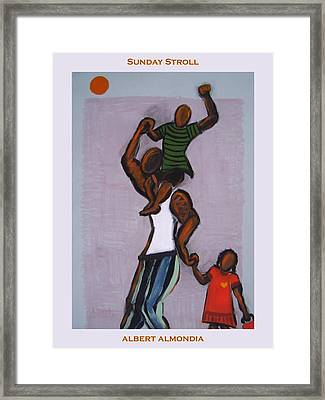 Sunday Stroll Framed Print by Albert  Almondia