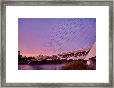 Sundial Bridge Framed Print