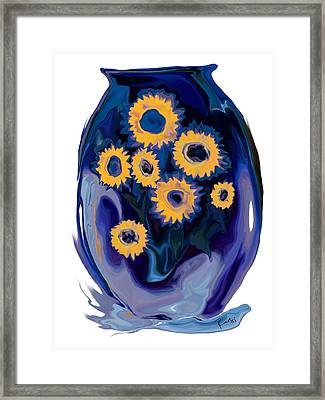 Sunflower 1 Framed Print by Rabi Khan