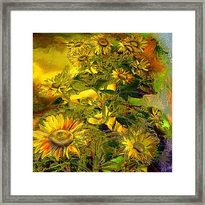 Sunflowers Framed Print by Anne Weirich