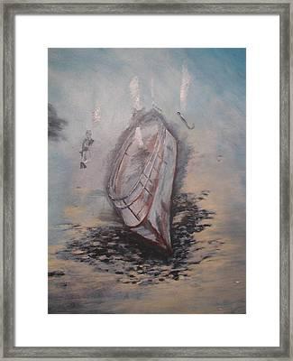 Sunken Ship Framed Print