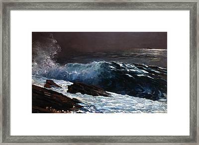 Sunlight On The Coast Framed Print