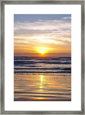 Sunrise At Beach Framed Print