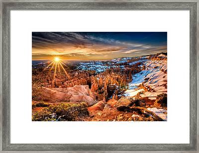 Sunrise At Bryce Framed Print