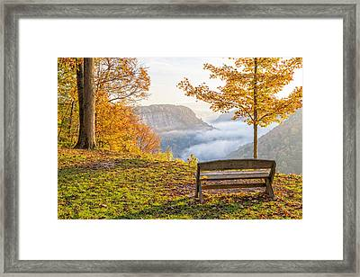 Sunrise At Humphrey's Overlook Framed Print