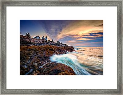 Summer Sunrise At Pemaquid Point Framed Print by Rick Berk