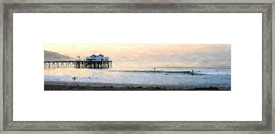 Sunrise Fun At The Bu Framed Print by Ron Regalado