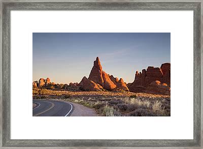 Sunrise In Arches National Park Framed Print