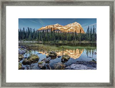 Sunrise In The Rocky Mountains Framed Print