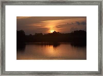 Sunrise On The Bayou Framed Print