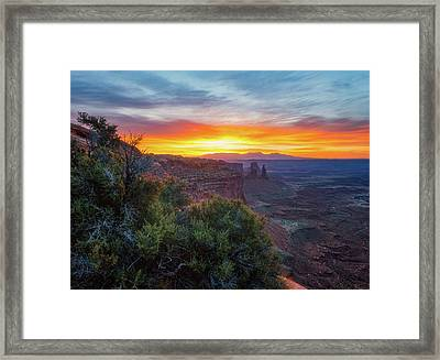 Framed Print featuring the photograph Sunrise Over Canyonlands by Darren White