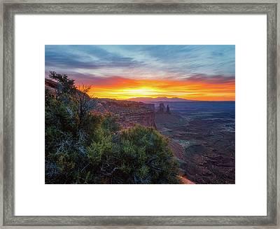 Sunrise Over Canyonlands Framed Print by Darren White