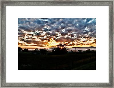 Sunrise Over Fields Framed Print