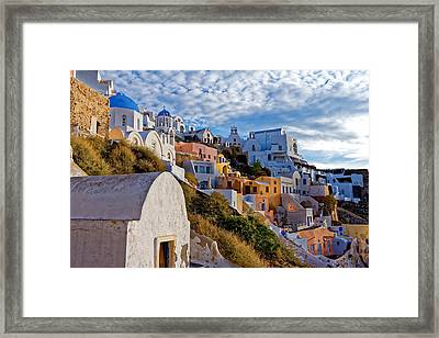 Sunrise Over Oia Framed Print