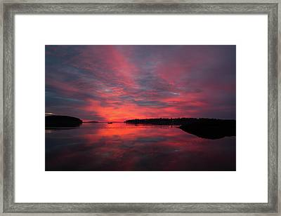 Sunrise Reflection Framed Print