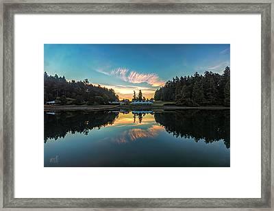 Sunrise Reflection Framed Print by Thomas Ashcraft