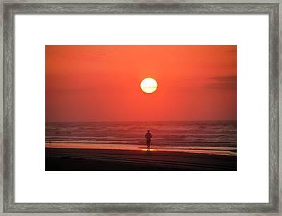 Sunrise Run Framed Print by Bill Cannon