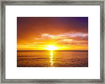 Sunrise Framed Print by Svetlana Sewell