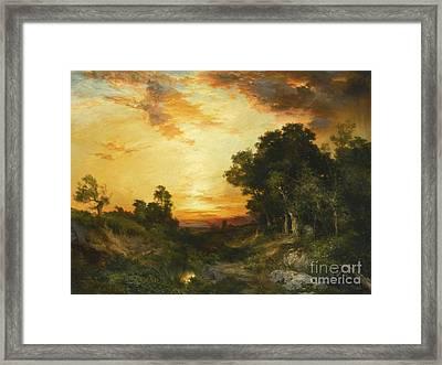 Sunset Amagansett Framed Print by MotionAge Designs