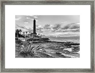 Framed Print featuring the photograph Sunset At Chipiona Lighthouse Cadiz Spain by Pablo Avanzini