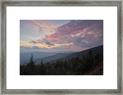 Sunset At Clingman's Dome Framed Print