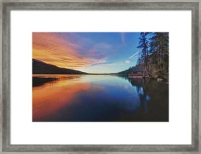 Sunset At Fallen Leaf Lake Framed Print by Jacek Joniec