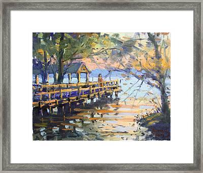 Sunset At Fishermans Park Framed Print