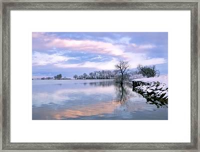 Sunset At Fossel Creek. Co Framed Print