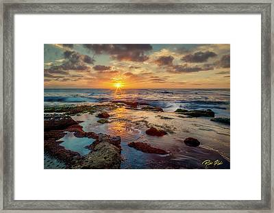 Framed Print featuring the photograph Sunset At La Jolla  by Rikk Flohr