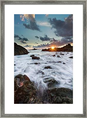 Sunset At Lombok Framed Print