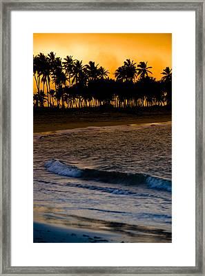 Sunset At The Beach Framed Print by Sebastian Musial