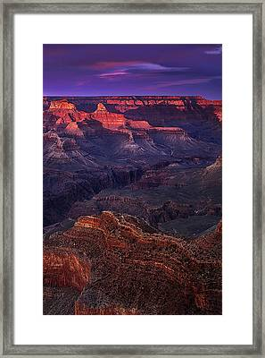 Sunset At The Grand Canyon Framed Print by Andrew Soundarajan