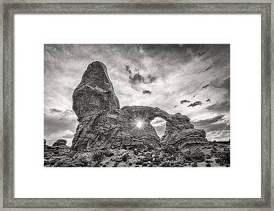 Sunset At Turret Arch Framed Print