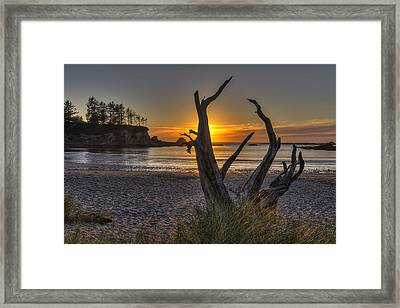 Sunset Bay Framed Print by Mark Kiver
