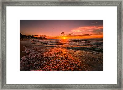 Sunset Beach Framed Print by RC Pics