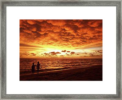 Framed Print featuring the photograph Sunset Before The Storm by Melanie Moraga