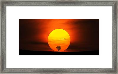 Sunset Framed Print by Bess Hamiti