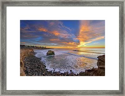 Sunset Cliffs Framed Print
