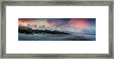 Sunset Emerald Isle Crystal Coast Framed Print