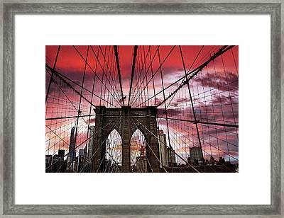 Sunset Gothic Framed Print by Jessica Jenney